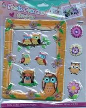 Owl Stickers - Pentique Stationers - Puffy Stickers
