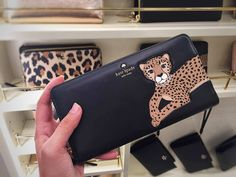 Cheetah face black wallet Kate Spade - leopard leopard leopard collection