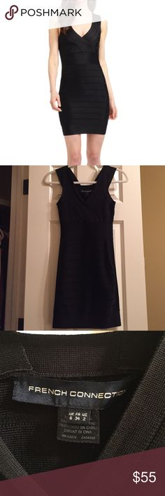 """French Connection Fast Spotlight dress. Size 2. French Connection Black Bandage sleeveless dress. """"Fast Spotlight"""". US size 2. Worn once. Perfect for a girls night out or date night! French Connection Dresses Mini"""
