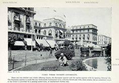 1925 Print European Quarter Cairo Egypt Africa Cityscape Buildings Brass