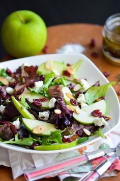 Crisp Apple Crunchy Greens and Delicious Dressing
