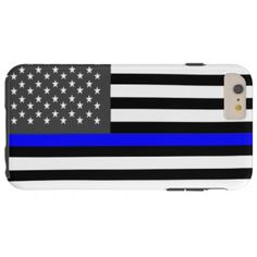 Thin Blue Line Flag iPhone case Thin Blue Line Flag, Thin Blue Lines, Police Unity Tour, Iphone 6, Iphone Cases, All Sale, Police Officer, 6s Plus