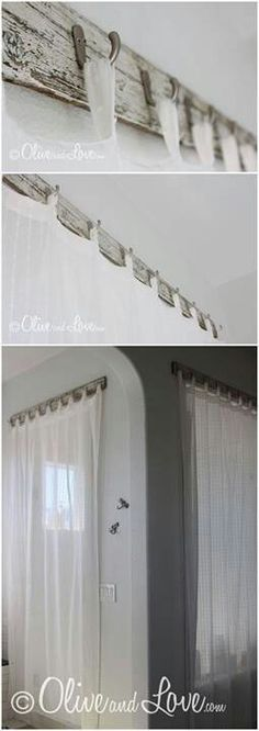 Neat idea for hanging curtains