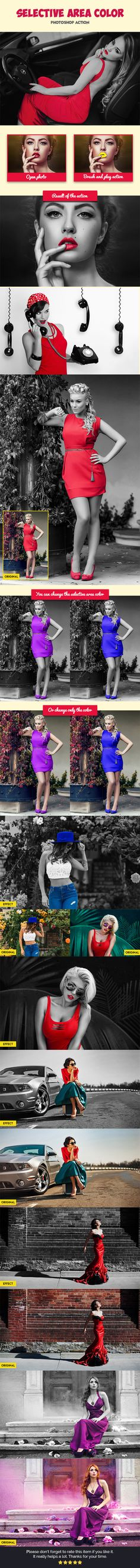 Selective Area Color V2 - #Photo Effects #Actions Download here:  https://graphicriver.net/item/selective-area-color-v2/19592354?ref=alena994