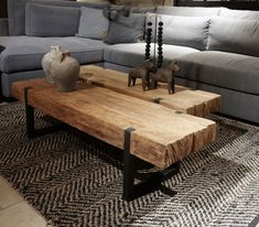 Coffee table solid teak with black steel frame - Kleinme .- Coffee table solid teak with black steel frame Small Furniture Collection – - Small Furniture, Home Decor Furniture, Decor Room, Living Room Decor, Winter Home Decor, Natural Home Decor, Woodworking Furniture, Green Woodworking, Woodworking Projects