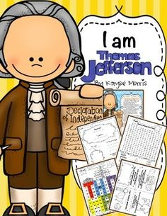 Thomas Jefferson: Thomas Jefferson:Teach students about an important person in history, Thomas Jefferson! This Thomas Jefferson unit is excellent to use any time of the year. Students will love learning about Thomas Jefferson and participating in these activities and crafts!