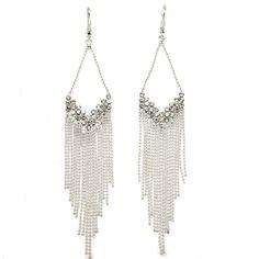 Boucles d'oreilles argentées pendantes. #boucles #bijoux #tendance #look #mode #earring #jewelry www.milena-moda.com