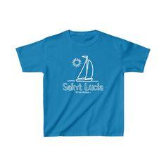 Caribbean Kids Saint Lucia Sailboat Tee - Sapphire / M
