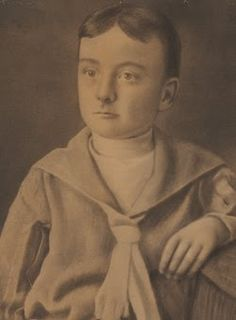 Edgar Allan Poe as a child