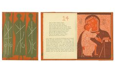 Cover and inside spread of S Rozhdestvom Khristovym! Russian for Merry Christmas, a 1953 book by William H. Crawford that was designed by Antonucci and John Begg for Oxford University Press
