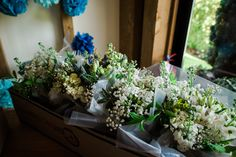 Bouquets in May (bride's own gyp)