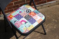 Geometric Bliss Folding Chair by Jeni Baker