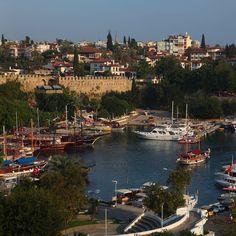 Old Harbour in the Ancient City of Attalia (Antalya) Mediterranean Turkey