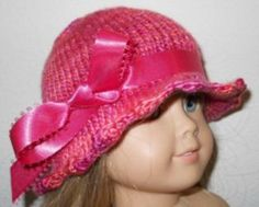 American Girl Knit Hat with Ribbon Accent pattern