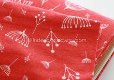FLANNEL ORGANIC Cotton Twigs Tomato Charley Harper door IndeedFabric, $8.25