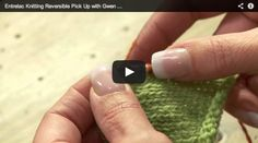 Learn to do a reversible pick up for all of your entrelac knitting projects in this free video