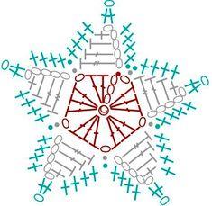 horgolt karácsonyi csillag minta - Google keresés