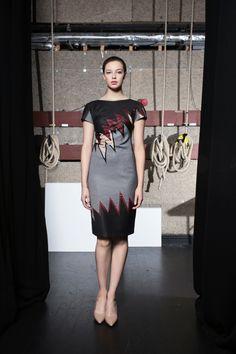 Caroline Kilkenny Ziggy Dress in Red Zig Zag