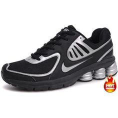 Mens Nike Shox R6 Black Silver R6 Second