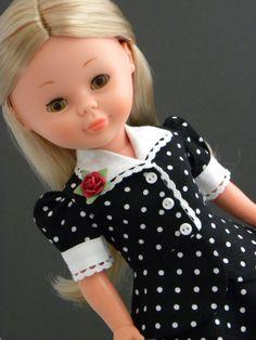 Vintage Nancy, in vintage fabrics, by Lemieux Doll Boutique.
