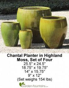 Chantal Planter Set of 4 in Highland Moss Review #ChantalPlanterSetof4inHighlandMoss http://fountainhut.com/chantal-planter-set-4-highland-moss-review/