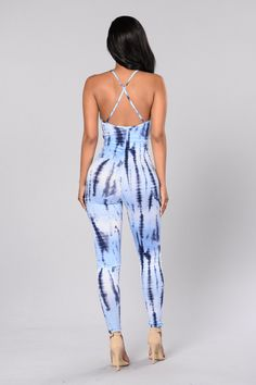 Clear Skies Jumpsuit - Blue