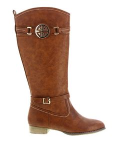 Take a look at this Brown Embellished Ramsy Boot on zulily today!