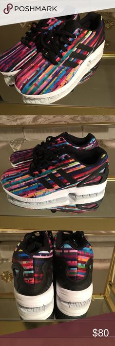 Adidas ZX Flux - Multicolor NWT. Multicolored Adidas. This is a Men's size 9 which is a size 10 in women. adidas Shoes Sneakers