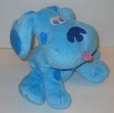 """Blues Clues Kids Hand Puppet Puppy Dog Plush Stuffed 7"""" Sewn Eyes Mattel #2 #Mattel"""