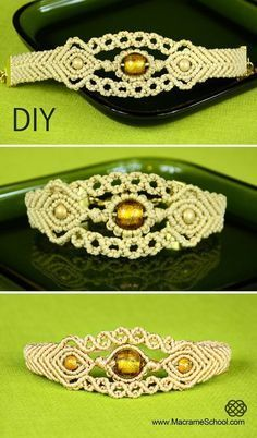 Sun in the Sea - Macrame Bracelet Tutorial « Jewelry