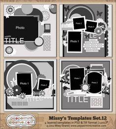 Missy's Templates Set.12 @Missy Carlson-Strand