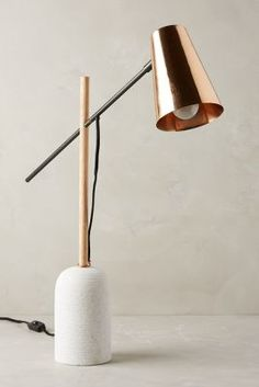 Shop Anthropologie's collection of unique table lamps & bedside table lamps, including the season's newest arrivals. Luxury Table Lamps, Unique Table Lamps, Bedside Table Lamps, Bedroom Lamps, Desk Lamp, Bedroom Decor, Copper Floor Lamp, Copper Table Lamp, Unique Lighting