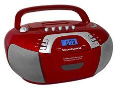 Schaub Lorenz BB 330-R Tragbares CD-Radio (AM/FM-Radio, CD/MP3-Player, Kassettenplayer, AUX-In) rot: Amazon.de: Elektronik