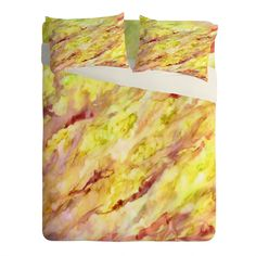Rosie Brown Marble Veins Sheet Set Lightweight   DENY Designs Home Accessories #bedding #sheets #bed #homedecor #art #abstract #watercolor #denydesigns