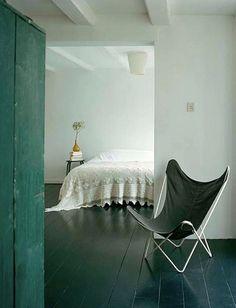 Blue wood floors. by ethel