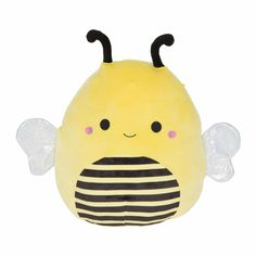 Buy Squishmallow Kellytoy Super Soft Plush Toy Pillow Pet Animal Pillow Pal Buddy Stuffed Animal Birthday Gift Holiday Sunny The Bee) Pillow Pals, Black Bee, 90s Toys, Children's Toys, Elmo Toys, Cute Stuffed Animals, Animal Birthday, Pink Butterfly, Animal Pillows