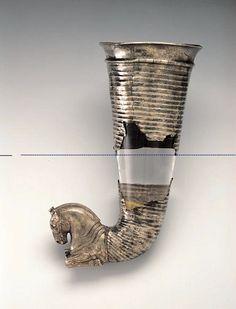 Achaemenid Fragmentary Silver Rhyton with a Horse Protome 5th -early 4th cent. BCE Achaemenid Anatolia.