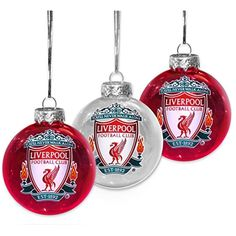 f8e5b7bf67d Liverpool FC Pack of 3 Liverbird Ornaments Baubles ** Check out the image  by visiting