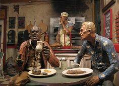 Breakfast in Magic Town - Michael Garman's sculptural theater, located at The Michael Garman Museum & Gallery in Colorado Springs, Colorado.