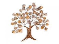 Ağaç Figürlü Metal Dekoratif Duvar Panosu
