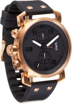 Eye-catching, isn't it? Rose gold on black—Vestal USS Observer Chrono Watch. #REIGifts
