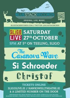 The Casanova Wave at Sligo Live 2012 Saturday Live, Original Music, Waves, The Originals, Poster, Ocean Waves, Billboard, Beach Waves, Wave