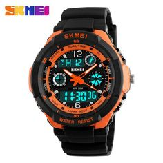 Mens LED Digital Date Alarm Waterproof Rubber Sports Army Watch Wristwatch US