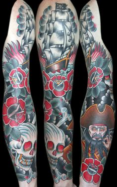 Stunning traditional pirate sleeve