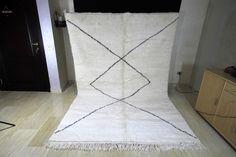 Excited to share this item from my shop: Beni Ourain large handmade wool rug, beautiful Beni Ouarain Moroccan Berber Rug, Berber Carpet, Custom Rugs, Sheep Wool, Geometric Designs, Large Rugs, Woven Rug, Handmade Rugs, Vintage Rugs