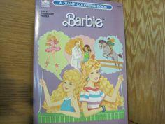 Barbie coloring book-1980's. $4.00, via Etsy.