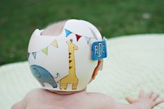 Cranial Band / Helmet / DOC Band Painting by Leigh Gibson  Deanna Devine Photography