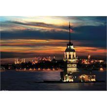 Anatolian Kız Kulesi Karanlıkta Parlayan Neon Puzzle 1000 Parça