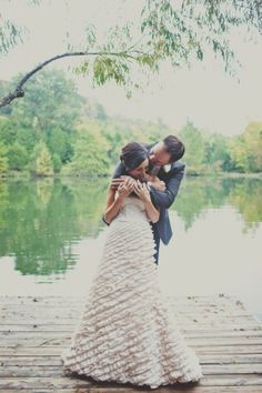 Bear hug, playful couple on Mooncake Lake @cedarwoodwed   Teale Photography