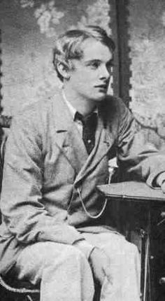 Lord Alfred Douglas, aka Bosie, lover of Oscar Wilde. The boyish beauty in this man is remarkable. It's easy to see why they casted Jude Law in the role in the movie Wilde.